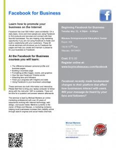Wausau Facebook for Business Seminar