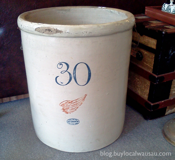 30 gallon red wing crock wausau wi