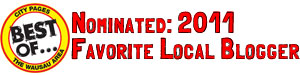 Nominated a Wausau favorite blog blogger 2011