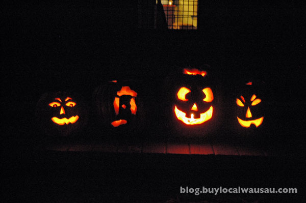 Wausau scary halloween pumpkins trick or treat