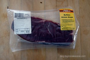 packaged bison meat