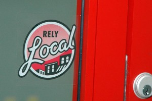 relylocal sticker door