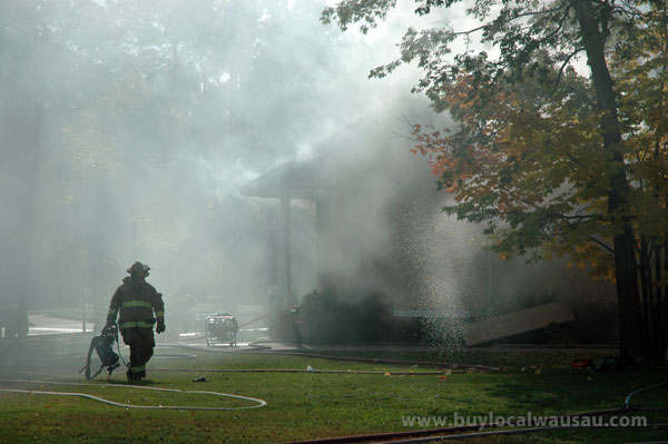 Wausau house fire smoke filled