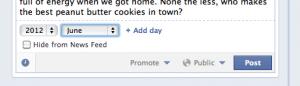Facebook schedule posts