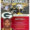 Mike Daniels Packers Wausau