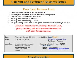 Wausau local business roundtable networking event