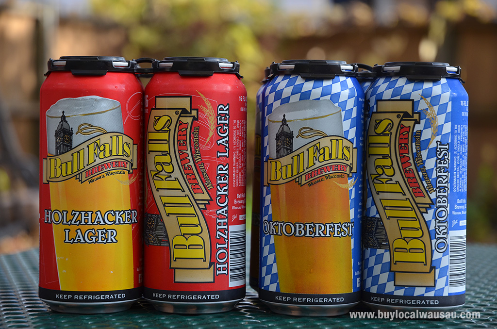 Wausau s bull falls brewery beers now available in cans for Michaels crafts wausau wi
